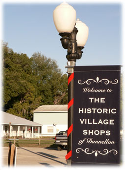 Sign for Historic Villages of Dunnellon.