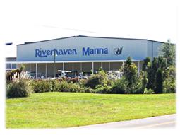 Riverhaven marina building.