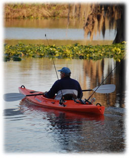 Kayaking on the Rainbow River.