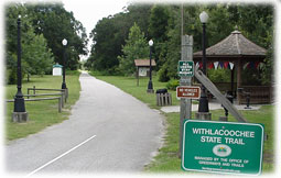 Withlacoochee state hiking and biking trail.