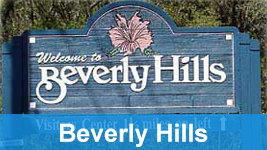 Beverly Hills welcome sign.